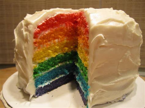 layered rainbow rainbow layer birthday cake