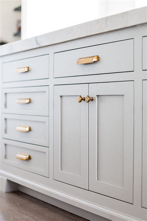 grey kitchen cabinets brass hardware quicua