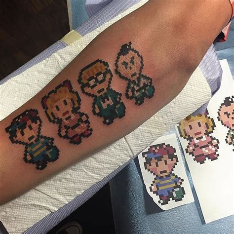 earthbound tattoo pixel earthbound done by alexstrangler