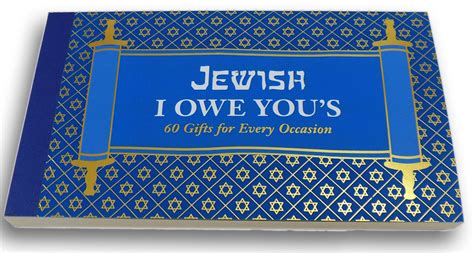 i owe you coupon jewish gifts jewish i owe you s 60 gifts for every