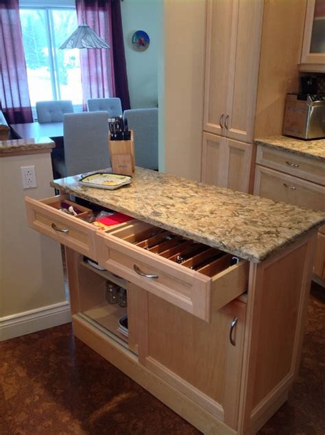 Dorval Kitchen with portable baking station   Transitional