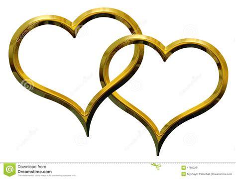 imagenes de corazones oro dos corazones de oro imagen de archivo imagen 17600271