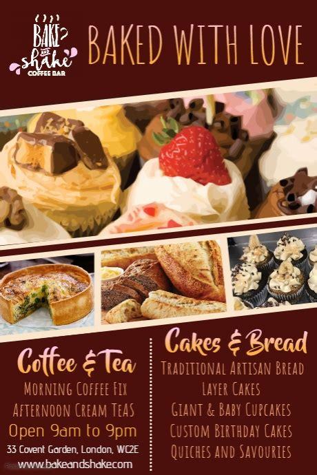 free bakery flyer templates bakery flyer template postermywall