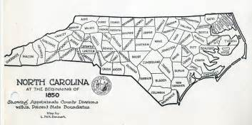 carolina state map showing counties some early nc maps