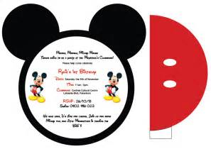 mickey mouse invitations designs by