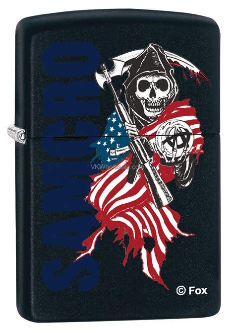 Zippo Original 28757 Of Anarchy Made In Usa Stok Lengkap zippo classic samcro reaper black matte z338 wholesale