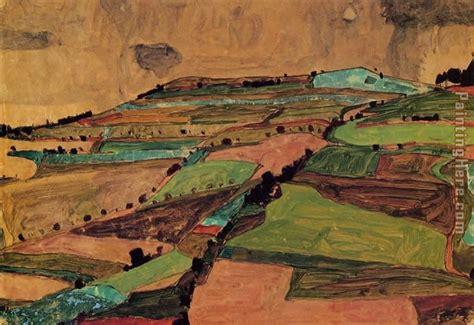 Egon Schiele Field Landscape Painting Anysize 50 Off