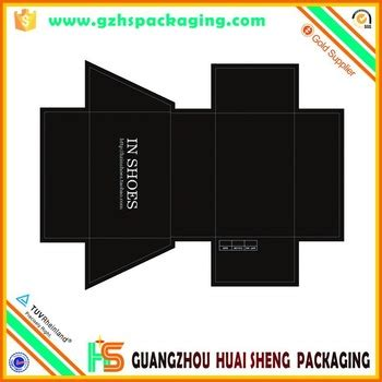 direct factory custom made paper shoe box template