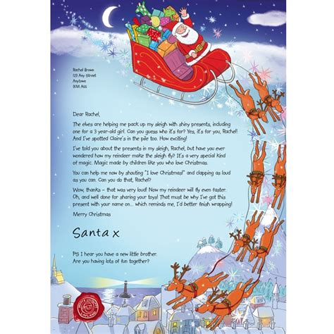 free printable personalised letter from santa template free personalised letter from santa 2014 gratisfaction uk