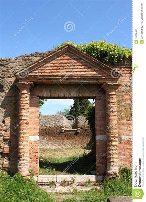 entrance    roman house stock photo image