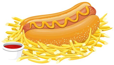 Hot Dog with Ketchup PNG Clipart - Best WEB Clipart Hot Dog Clipart Black And White