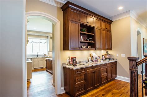 Island Pantry by Taupe Custom Kitchen With Wood Island Pantry