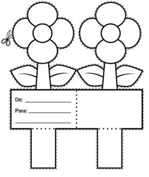 molde de tarjeta de la web fichas infantiles tarjeta de flores para colorear