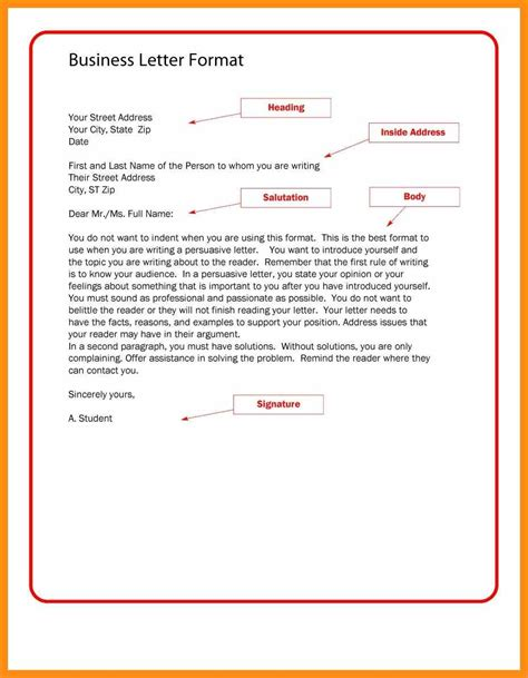 formal template business letter format template memo exle