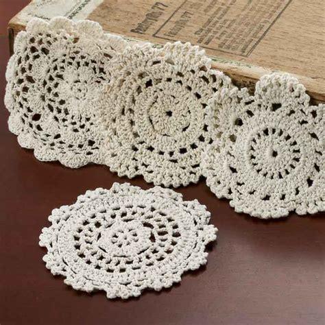 crochet doily ecru round crocheted doilies crochet and lace doilies
