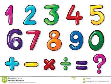 imagenes de matematicas nombre n 250 meros coloridos y operaciones matem 225 ticas ilustraci 243 n