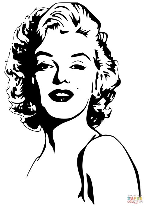 marylin monroe coloring page coloring pages drawings marilyn monroe coloring page free printable coloring pages
