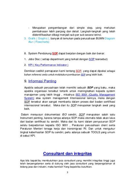 format artikel kajian tindakan standar operasional prosedur i sop