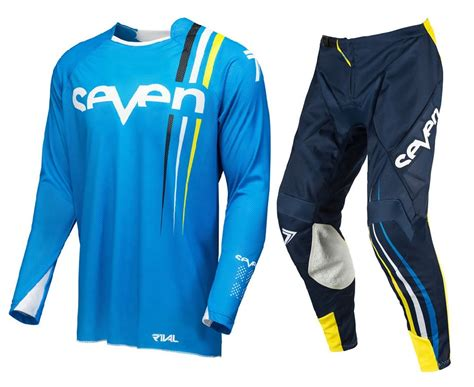 kids motocross jerseys seven youth mx gear rival flow cyan navy motocross bike