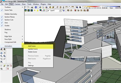 sketchup layout add scene no render night illustration visualizing architecture