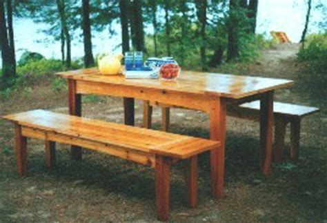 harvest table bench plans outdoor harvest table and benches plan downloadable
