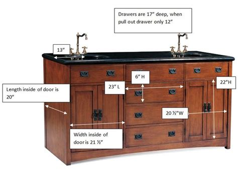 mission style bathroom cabinetry