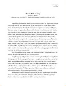How To Begin A College Essay by An Essay About Yourself