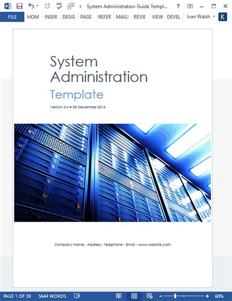 system user manual template system administration guide ms word 2003 2016