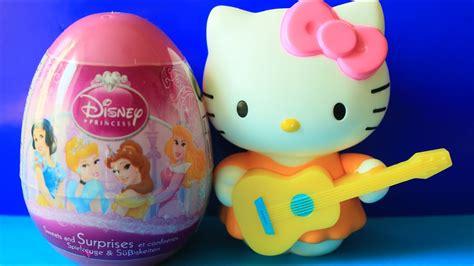 egg surprise disney princess toys  kitty youtube