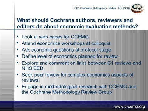 Economist Which Mba Methodology by The Cochrane Collaboration Colloquium What Should