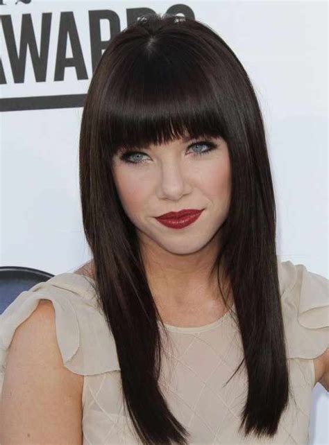 hair bangs short blunt square face adorable hairstyles that can easily charm your long face