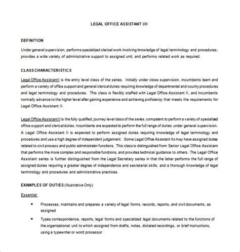 8 Office Assistant Job Description Templates Free Premium Templates Office Assistant Description Template