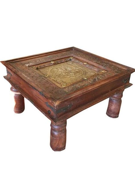 brass coffee table india 17 best images about rustic coffe table on