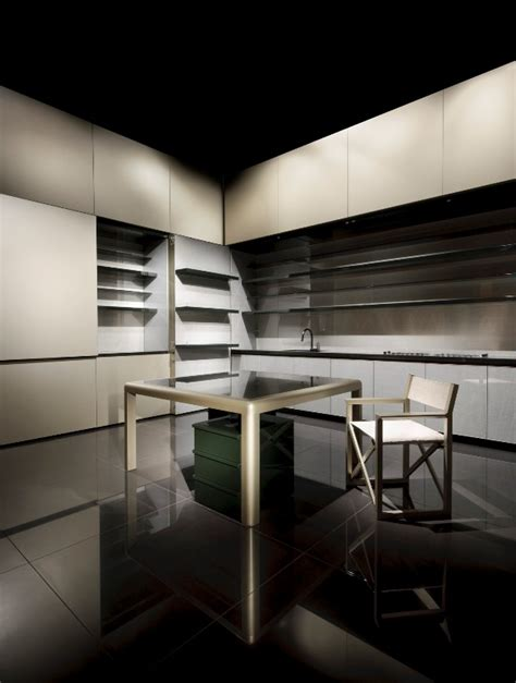 giorgio armani kitchen at milan furniture fair 2009
