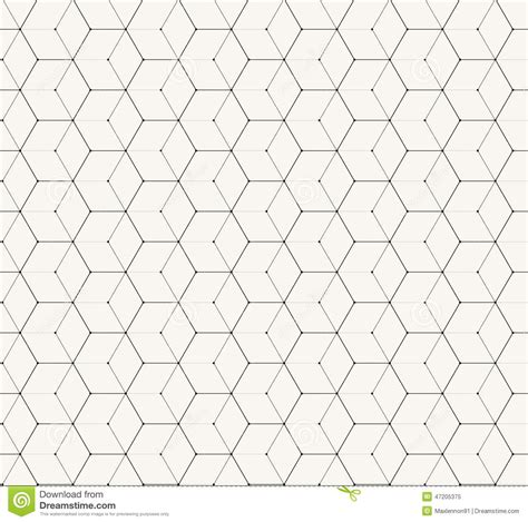 seamless pattern simple hexagons gray vector simple seamless pattern stock vector