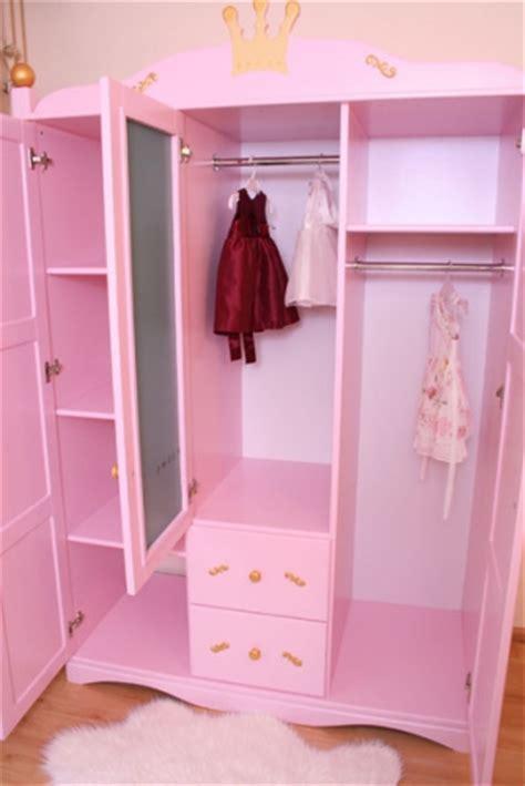 kleiderschrank baby kleiderschrank f 252 r baby princess rosa bei oli niki kaufen
