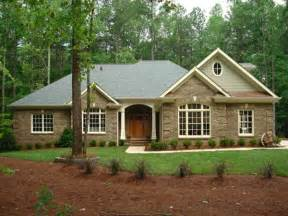 Ranch House Plan Brick Vector Picture Brick Ranch House Plans