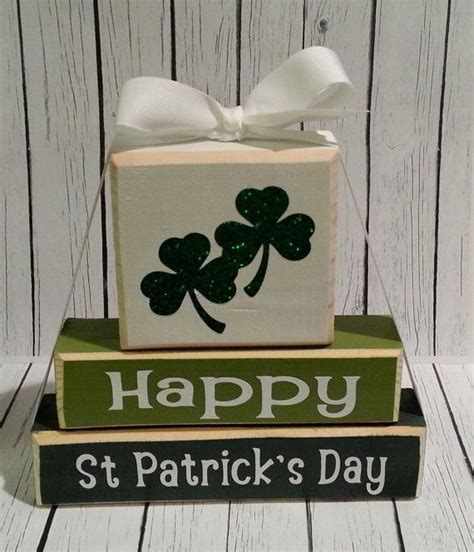 wooden st s day crafts 3 stack st patricks day custom wooden by sassynanadesigns
