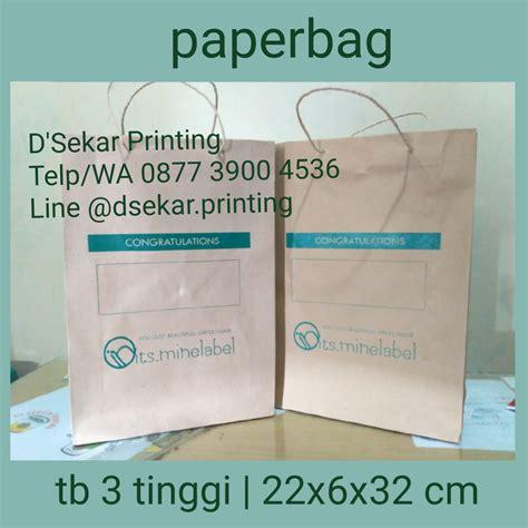 Paperbag Besar Shopping Bag Sablon jasa cetak tas kertas paperbag murah pusat cetak sablon