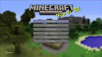 Minecraft xbox 360 edition title screen xbox 360 youtube
