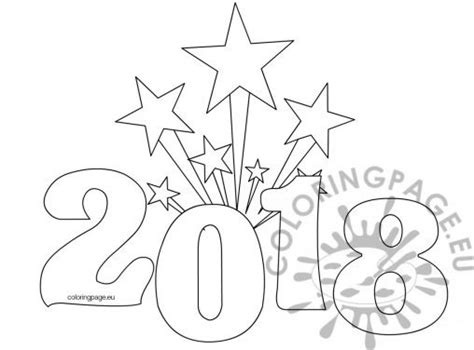 new year 2018 colouring pages new year coloring page