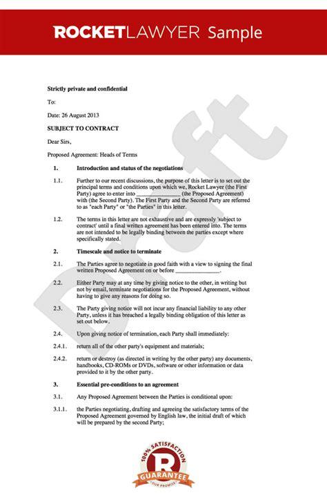 free sle memorandum of understanding template letter of intent loi memorandum of understanding