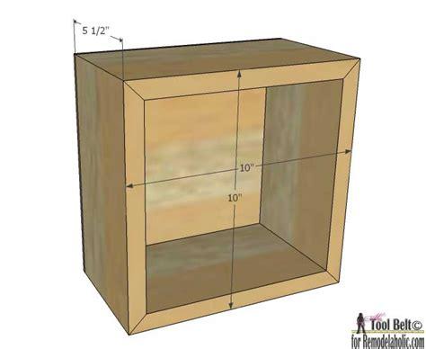 regal quadrat remodelaholic diy geometric display shelves