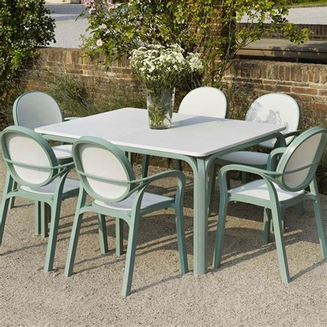 6 Seater Patio Furniture Set Nardi Lauro 6 Seat Resin Garden Furniture Set Gardener Chsbahrain