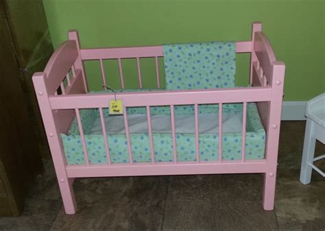 Wooden Baby Doll Cribs by Items Similar To Wooden Doll Crib Bed Furniture