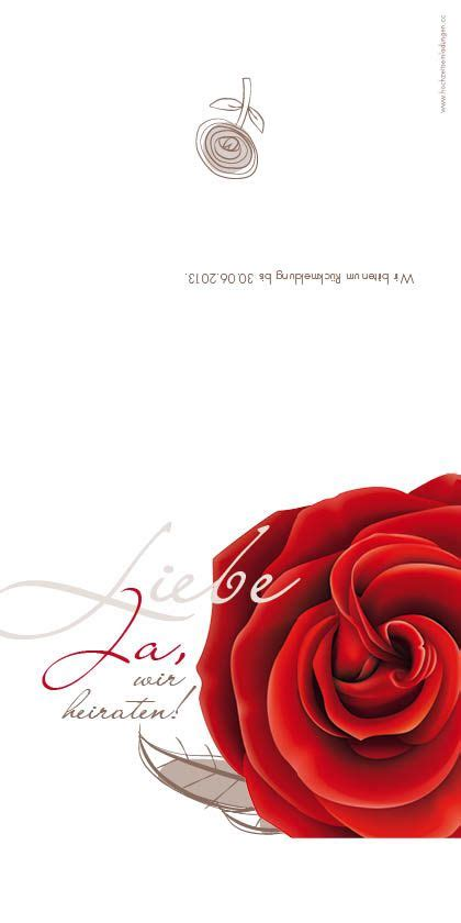 Hochzeitseinladung Deckblatt by Blumen Auf Den Einladungskarten Hochzeitseinladung Mit