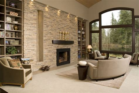 contemporary living room with stacked stone accent wall best 15 of neutral color wall accents