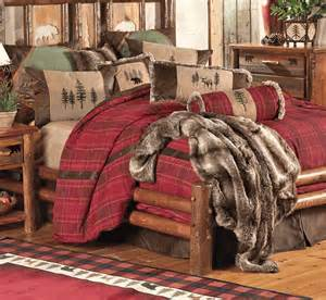 rustic bedding king size highlands cabin bed set black