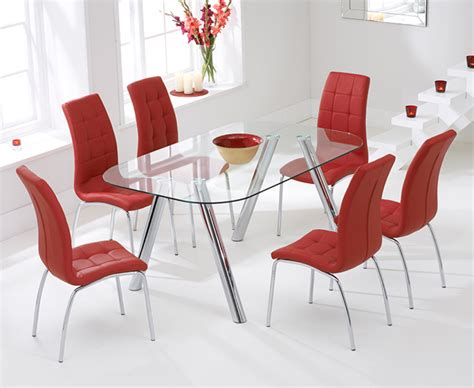 Dining Chairs Calgary with Piazzo 160cm Glass Dining Table With Calgary Chairs The Great Furniture Trading Company