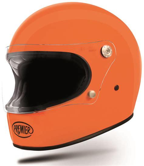 Helm Retro Orange premier vintage crash helmets premier trophy motorcycle